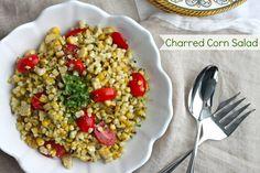 Charred Corn Salad - The Corner Kitchen Salad Recipes, Vegan Recipes, Corn Salads, Good Food, Fun Food, Spring Recipes, Meatless Monday, Other Recipes, Side Dishes