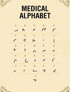 Medical Alphabet Source by omblinette Alphabet Code, Alphabet Symbols, Alphabet And Numbers, Shorthand Alphabet, Ancient Alphabets, Ancient Symbols, Different Alphabets, Sms Language, Secret Code