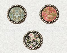 f056 Kronkorken Magnet Set Paisley Muster , bottlecaps von Mondcatze´s Zauberwerkstatt auf DaWanda.com