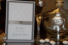 Einladungskarten - Einladungskarte Hochzeit Strasssteine - ein Designerstück von EvasCardArt bei DaWanda
