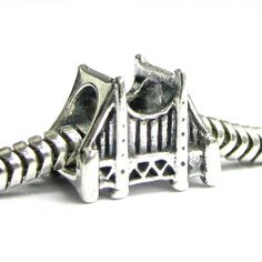 Amazon.com: Queenberry Sterling Silver San Fransico Golden Gate Bridge Bead For Pandora Troll Chamilia Biagi European Charm Bracelets: Jewel...
