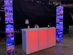 Acrylic light up bars and columns! Let this bar light up your next event.