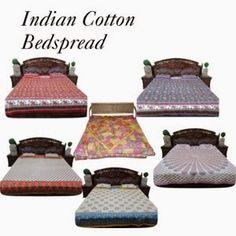 Indian Bedding Bedspread: Bohemian Inspired Bedspread