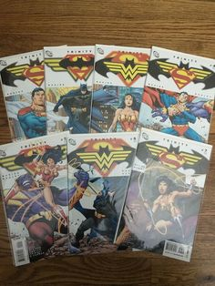 Bought new, read once carefully, bagged and boarded. NM, First prints. Thanks! #wonder #woman #batman #superman #bagley #comics #busiek #trinity