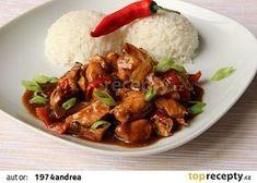 Kuřecí nudličky na pivu a balsamiku recept - TopRecepty.cz Kung Pao Chicken, Meat, Ethnic Recipes, Food, Essen, Meals, Yemek, Eten