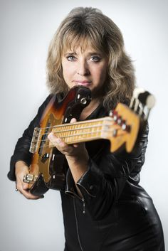 Suzi Quatro rocks the bass.