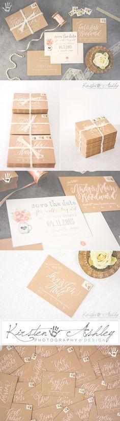 Bespoke Invitations & Calligraphy | Georgia Wedding | Kirsten Ashley Photography & Design