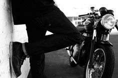 Triumph, Blackbird Jeans, and Red Wing Boots