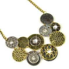 Aliexpress.com : Buy vintage round plates statement necklace,bronze necklace with unique pendant,NL 1919 from Reliable statement necklace suppliers on Well Done Fashion Jewelry Co.,Ltd. $4.89