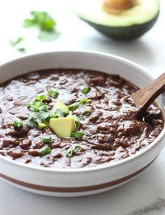 Vegan Slow Cooker Black Bean Soup- creamy, full of flavor and so easy to make!