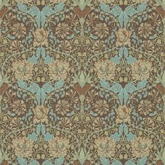 The Original Morris & Co - Arts and crafts, fabrics and wallpaper designs by William Morris & Company | Products | British/UK Fabrics and Wallpapers | Honeysuckle & Tulip (DM3W214702) | Archive III Wallpapers