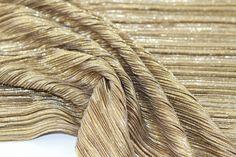 Shimmer! Golden pleats from Eurokangas