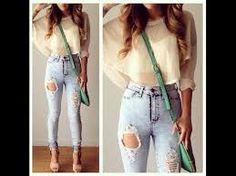 Resultado de imagen para moda 2015 juvenil jeans