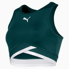 PUMA Soft Sports Women's Crop Top Shirt in Ponderosa Pine size Medium Nike Outfits, Sport Outfits, Crop Top Outfits, Crop Top Shirts, Nike Crop Top, Workout Wear, Workout Tops, Sport Fashion, Fitness Fashion