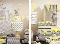 O Breno, meu clientinho VIP, vai ganhar um irmãzinho!! Eu tive a honra de fazer o Chá de bebê do Breno (VEJA AQUI), seu Brit Milá (AQUI) e a sua festa de 1 ano (AQUI)! O irmãozinho do Breno se chamará Eric! E eu mais uma vez tive o prazer de decorar uma festa para essa […] Brit Milá, Baby Shower Yellow, Baby Boy Shower, Baby Shower Themes, Baby Club, Christening Decorations, Birthday, Ideas Para, Grey Elephant