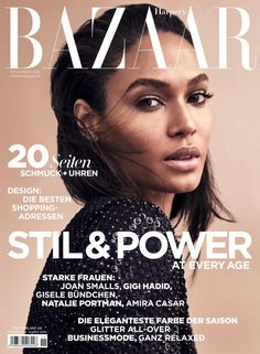 Joan Smalls by Marcus Ohlsson for Harper's Bazaar Germany November 2016
