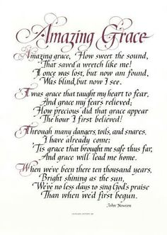 Amazing Grace and Roses Christian Sheet Music Hymn Hymnal