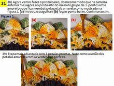 Me pediram explicação de como fazer esta mega flor girassol. É uma criação da Fio e Arte do Pará    https://www.facebook.com/media/set/?...