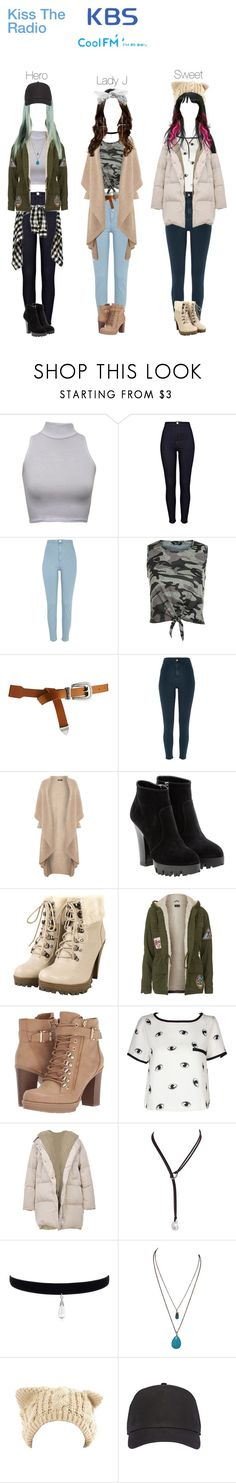 """""""HotQueen's / KBS  Kiss The Radio"""" by sorryimjulia ❤ liked on Polyvore featuring River Island, New Look, ASOS, Crea Concept, Miu Miu, Topshop, G by Guess, Biala, Sidney Chung and sw"""