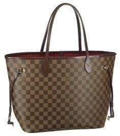 d6607b101e07 Neverfull MM Damier Ebene Canvas This adaptable bag in Damier canvas can be  used as a tote with large storage space