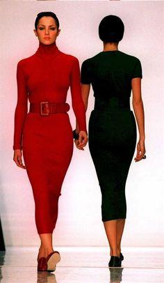 donna karan fall winter 1995 1996 new york Donna Karan, Supermodels, Peplum Dress, Fall Winter, High Neck Dress, Spring Summer, Wedding Dresses, Tops, Design