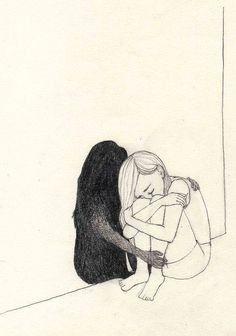 Sad Drawings, Dark Art Drawings, Art Drawings Sketches Simple, Pencil Art Drawings, Drawings Of Sadness, Drawing Ideas, Dancing Drawings, Drawing Tips, Art And Illustration