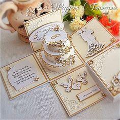 Ślub - pudełko z tortem na prezent