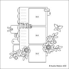 Scrappy Sketches: Mid Week Sketch by Heather Waldron Wedding Scrapbook, Scrapbook Paper Crafts, Scrapbook Supplies, Scrapbook Albums, Travel Scrapbook, Scrapbook Cards, Scrapbook Photos, Scrapbook Patterns, Scrapbook Layout Sketches