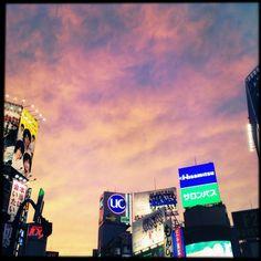 夕焼けがきれい #sunset #shibuya #Hipstamatic #Foxy #Sugar #Standard (Instagramで撮影)