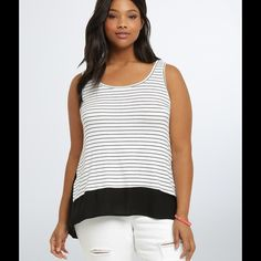 COMING SOON The Nautical Agate Striped Tank Stylish striped tank in a soft poly jersey fabric Paicar Concepts Tops Tank Tops