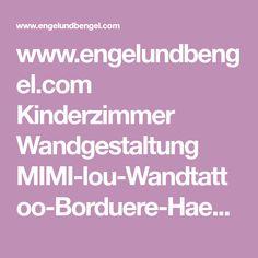 www.engelundbengel.com Kinderzimmer Wandgestaltung MIMI-lou-Wandtattoo-Borduere-Haeuschen-Petites-Maisons.html