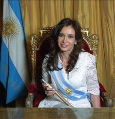 Article: Argentine President Cristina Kirchner with Apple Mac laptop, MacBook Air. Cristina Elizabeth Fernández de Kirchner is the first elected fe. Current President, Former President, Today In History, Women In History, Russian Television, Subdural Hematoma, Divas, Cristina Fernandez, President Of Argentina