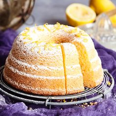 Sitruunakakku | Maku Baking Recipes, Cookie Recipes, Finnish Recipes, Sweet Bakery, Sweet Pastries, Food Tasting, Little Cakes, Pastry Cake, Food Cakes