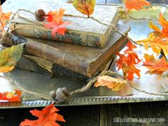 Sizzix Die Cutting Inspiration and Tips: Die Cutting Paper: Tattered Leaves Autumn Garland