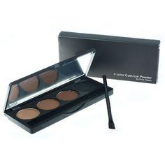 Professional 4 couleurs en poudre à sourcils/palette ombre avec double fin pinceau sourcils maquillage dans  de  sur Aliexpress.com