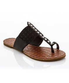 Love this Black Toe-Loop Sandal by Lady Godiva on #zulily! #zulilyfinds