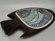 Pez bandeja, Tècnica de Mosaico, hecha a mano