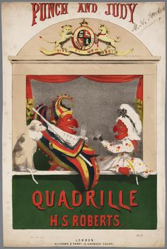 Mr Punch , Judy and Toby the Dog