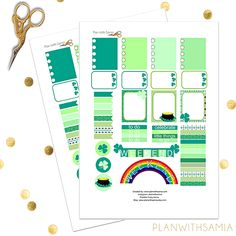 Plan with samia | Freebie Friday - St. Patrick's Day Themed Printable Stickers