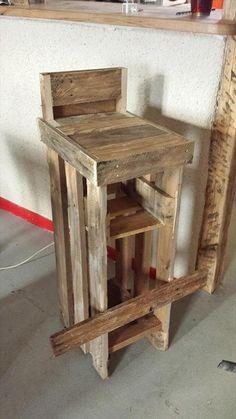 DIY Reclaimed Pallet #Stools | 99 Pallets