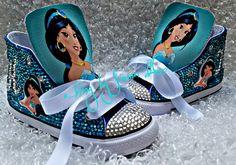 Custom Princess Jasmine Converse by ABlingbySimonellc on Etsy https://www.etsy.com/listing/400627739/custom-princess-jasmine-converse