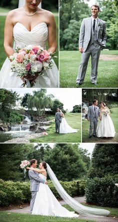 Nyk + Cali Wedding Photographers | Nashville, TN | The Govenor's Club | Ryan + Caitlin | Bride + Groom | Portraits | Golf Course | Blush + Grey | Green + Ivory | Bouquet | Waterfall | Candid | Veil | Beautiful | Romantic |