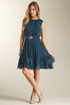 Jessica Simpson  Belted Lace Hem Party Dress  $55.00  $148.00 63% off