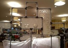 aluminum pipe bed with heritage lace accents. on display at anthropologie-scottsdale fashion square mall (not for sale)