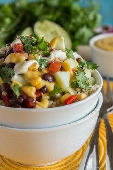 Vegan Black Bean Burrito Bowls