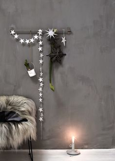 Les jolies choses de Noël #11 / Un mur décoré par Daniella Witte /