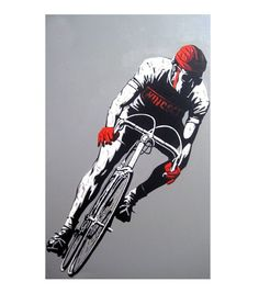 Cyclist Oil Painting on Canvas - 100% Hand Made - Ready to Hang - Crafted by Talented Artist by ArtworkOnly on Etsy