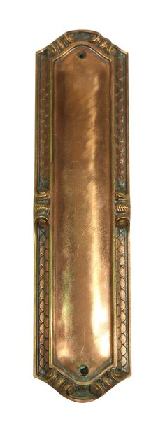 Copper scalloped push plate by oldegoodthings on Etsy