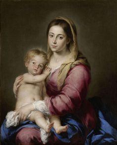 Virgen con el niño (1660-65), Bartolomé Esteban Murillo.