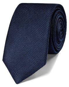 Buy our Navy silk classic plain slim tie exclusively from Charles Tyrwhitt of Jermyn Street, London. Tie A Necktie, Charles Tyrwhitt, Slim Tie, Mens Suits, Suit Men, Wedding Ties, Wool Suit, S Man, Silk